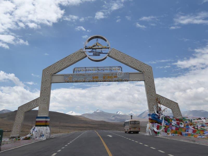 Gyatso mountain pass 5248m royalty free stock photography