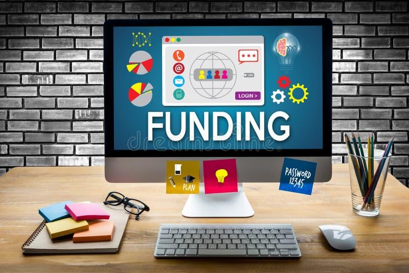 Gyckel för investering för supportrar för finansiering för fond för FINANSIERINGekonomi finansiell royaltyfri fotografi