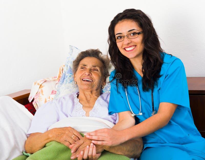 Gyckel med patienter royaltyfria bilder
