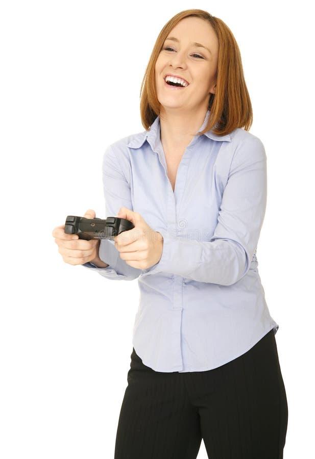 gyckelleken har den leka nätt kvinnan arkivfoton