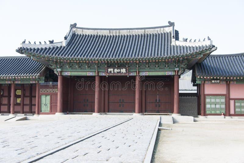 Gyeonbokgung arkivbild