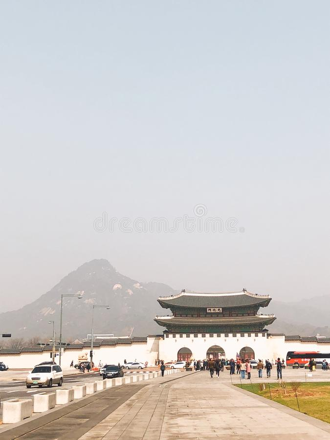 Gyeongbokgun arkivbild