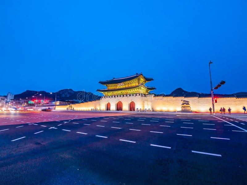 gyeongbokgung宫殿美丽的建筑学大厦  免版税库存图片