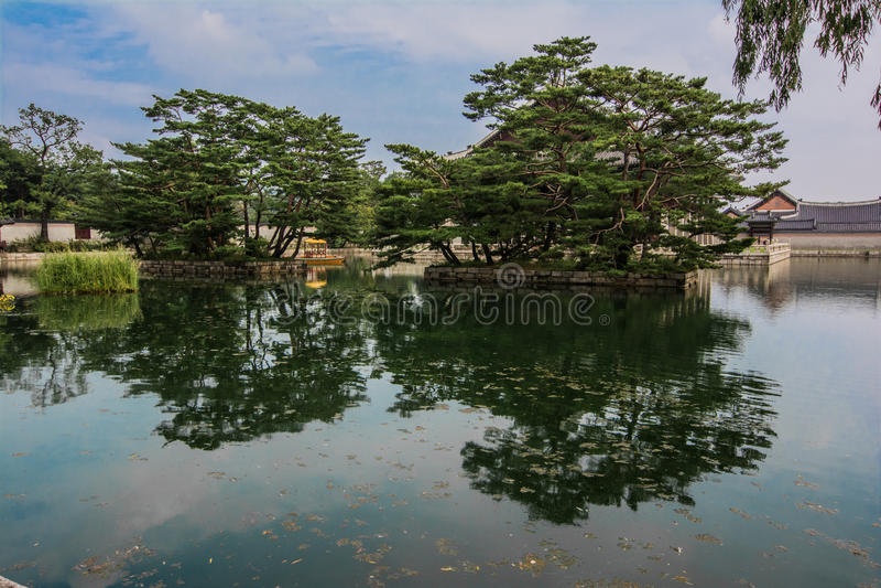 Gyeongbokgung pałac aneks fotografia royalty free