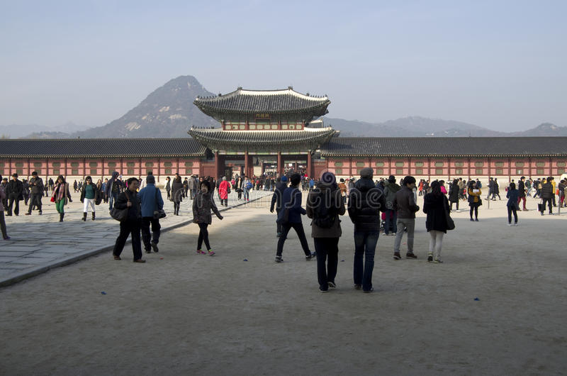 Gyeongbokgung Palace Korea royalty free stock photos