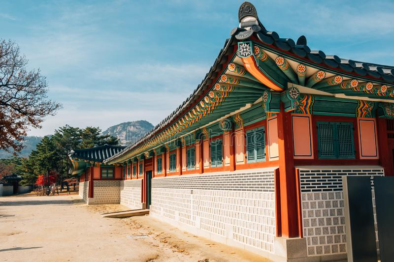 Gyeongbokgung Palace Korean traditional architecture in Seoul, Korea. Asia stock photography