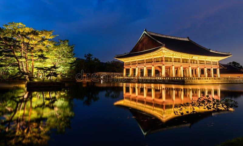 Gyeongbokgung Palace At Night stock image