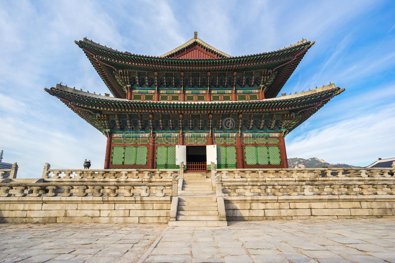 Gyeongbokgung palace in Seoul, South Korea stock photography