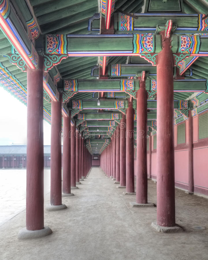 Download Gyeongbokgung Palace, Seoul, South Korea Stock Image - Image of trees, persimmons: 35067375