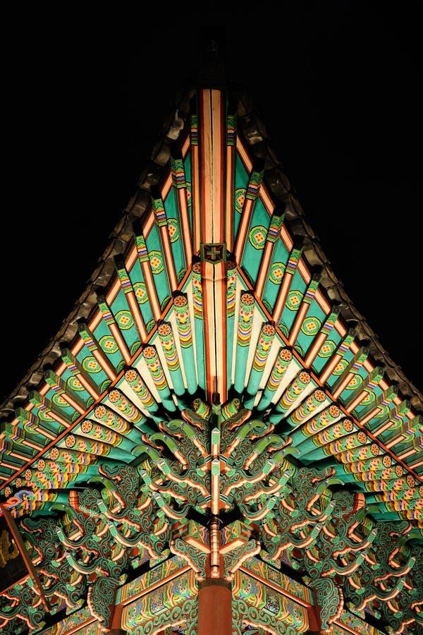 Gyeongbokgung Palast-Detail lizenzfreie stockfotografie