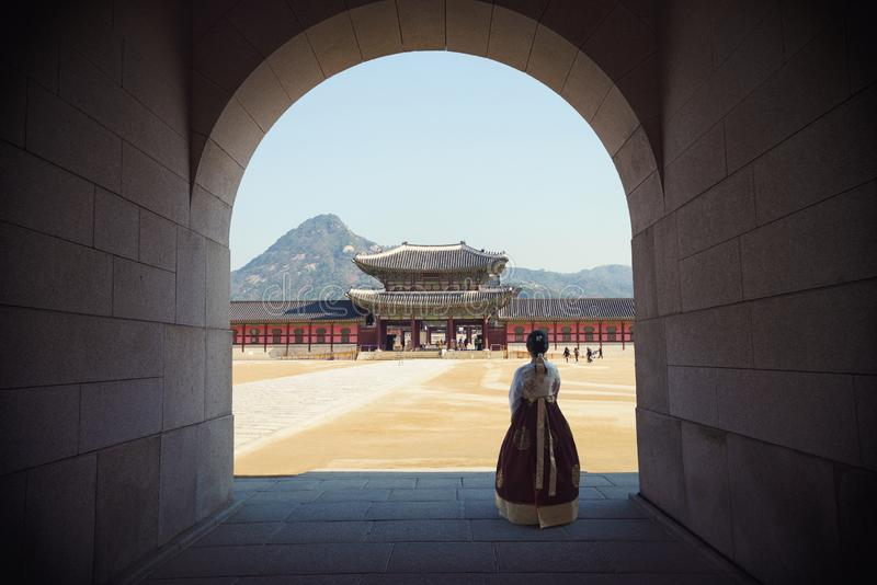 Gyeongbokgung Palast Nationales Volksmuseum von Korea lizenzfreie stockfotografie
