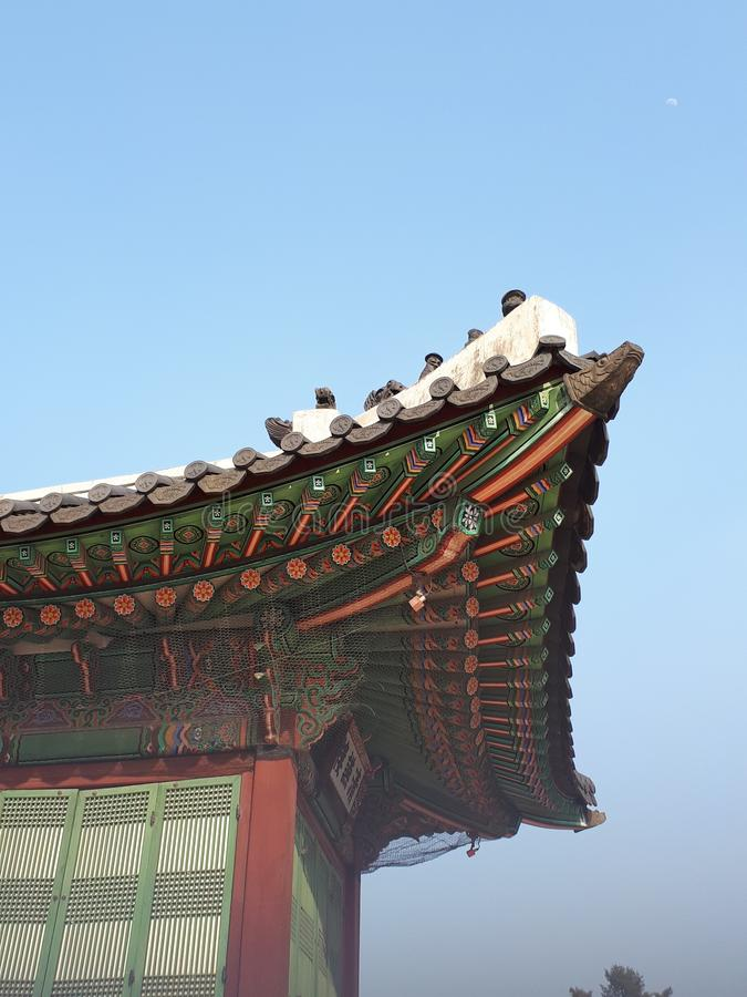 Gyeongbokgung slott & x28; Seoul södra Korea& x29; royaltyfri foto