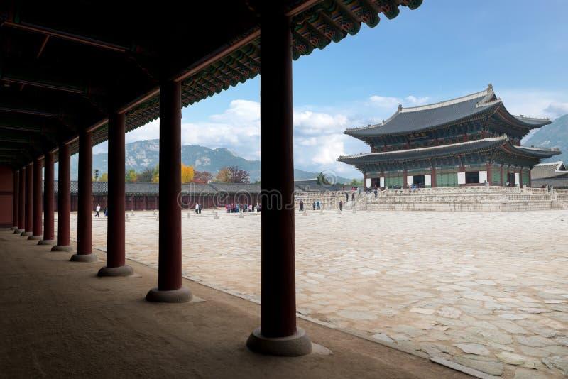 Gyeongbokgungpaleis in de Stad van Seoel, Zuid-Korea stock foto's