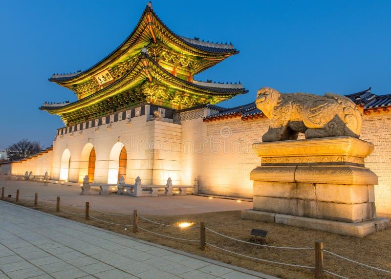 Gyeongbokgungpaleis in Seoel, Korea stock afbeeldingen