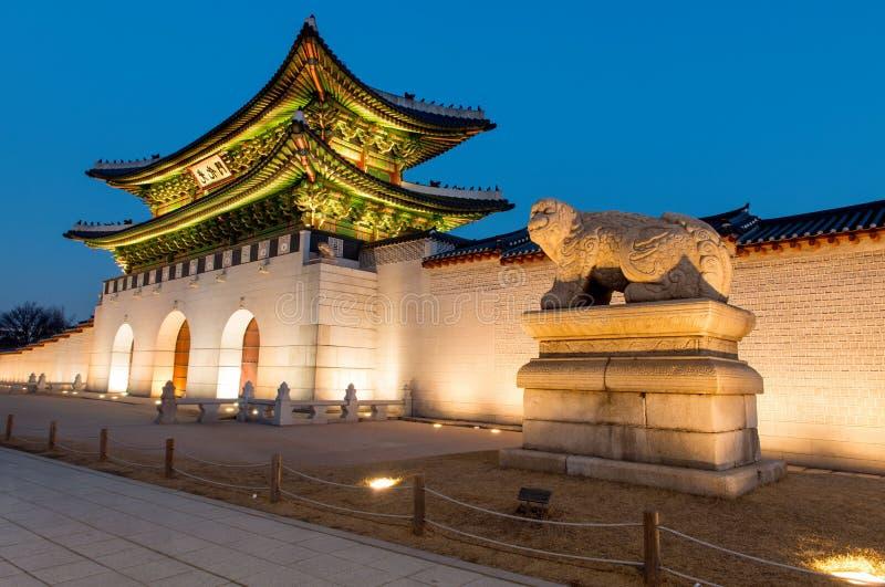 Gyeongbokgungpaleis in Seoel, Korea royalty-vrije stock afbeeldingen