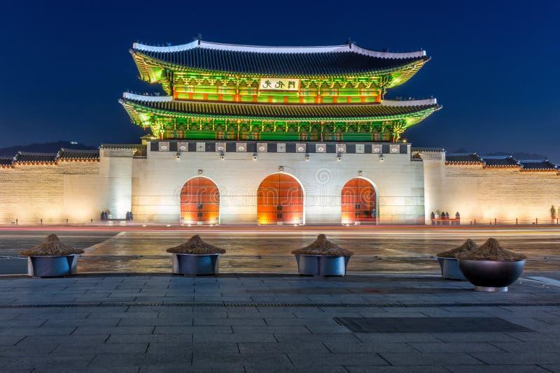 Gyeongbokgungpaleis in Seoel, Korea royalty-vrije stock foto's