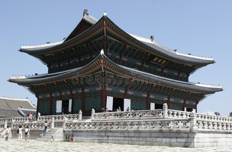 gyeongbokgungslott royaltyfri fotografi