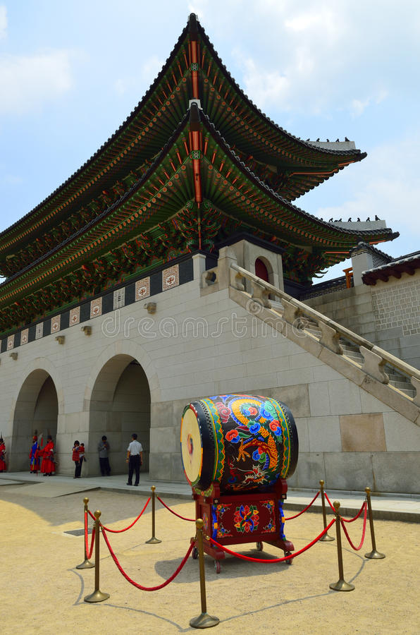 Gyeongbokpaleis, Seoel, Koreaanse Republiek royalty-vrije stock afbeelding