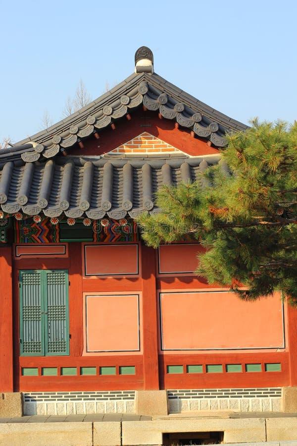 Gyeongbokpaleis in Zuid-Korea stock foto