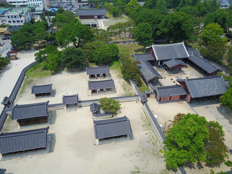 Gyeonggijeon在全州 免版税库存照片
