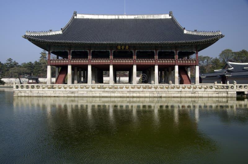 Gyeonghoeru en el palacio Seul Corea de Gyeongbokgung imagen de archivo