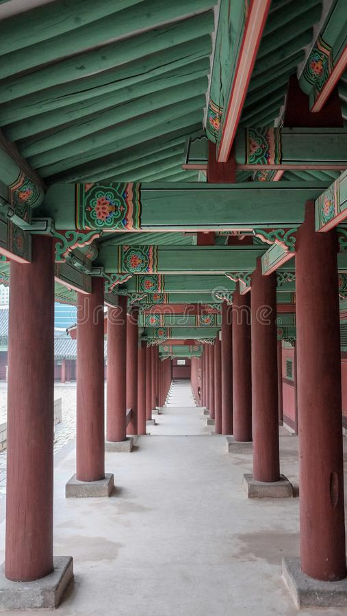 Gyeonghuigung宫殿在汉城,大韩民国在2017年9月 免版税库存图片