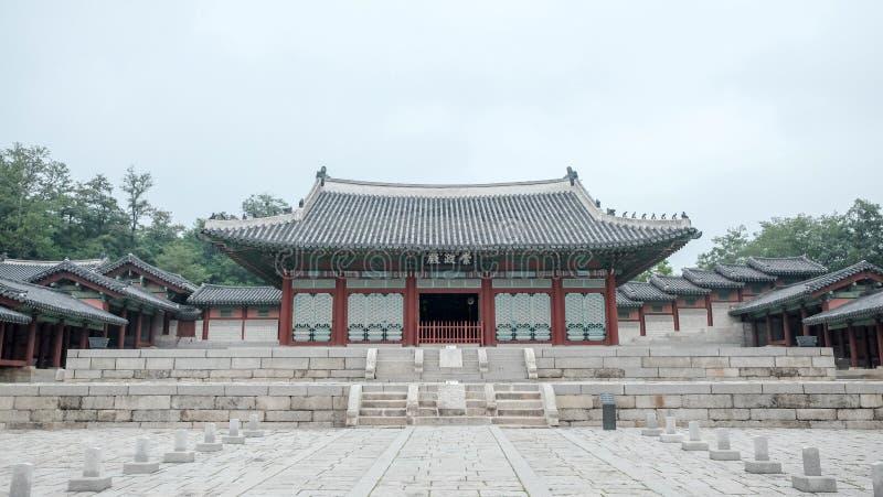 Gyeonghuigung宫殿在汉城,韩国在2017年6月 免版税图库摄影