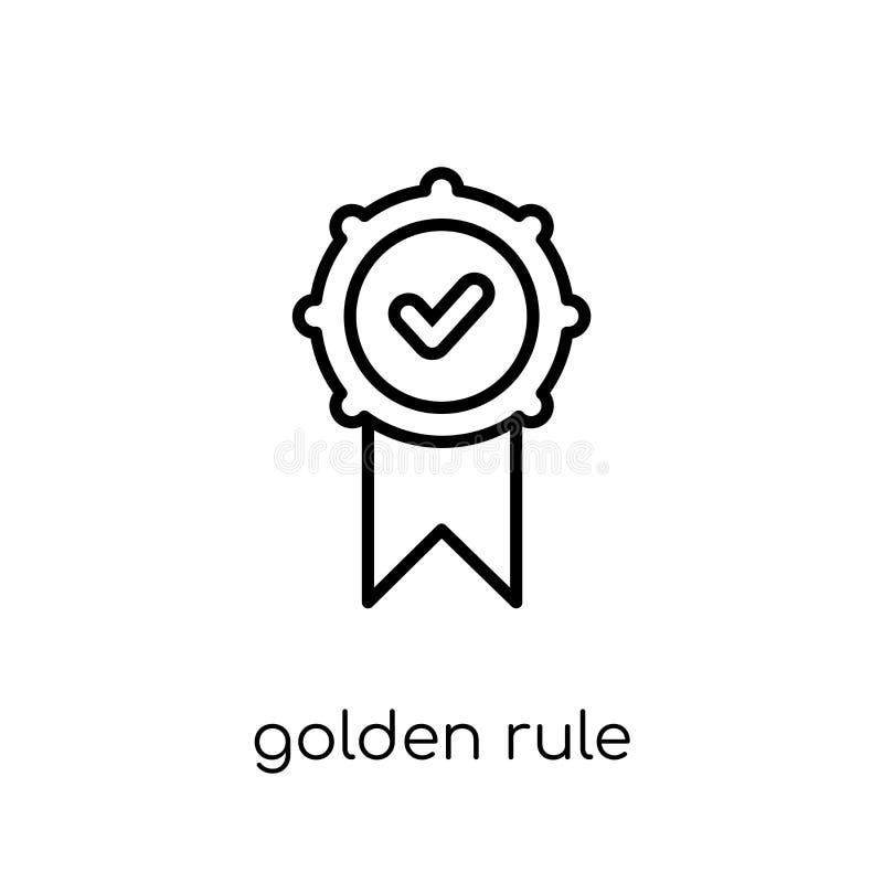 Gyllene regelsymbol  royaltyfri illustrationer