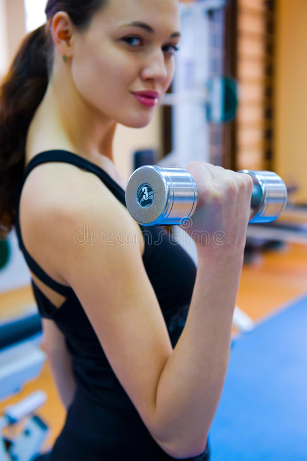 In The Gym stock photography