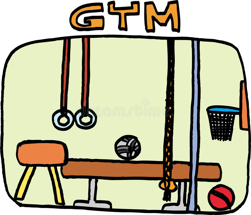 Gym. Colorful illustrated gym. vector image vector illustration