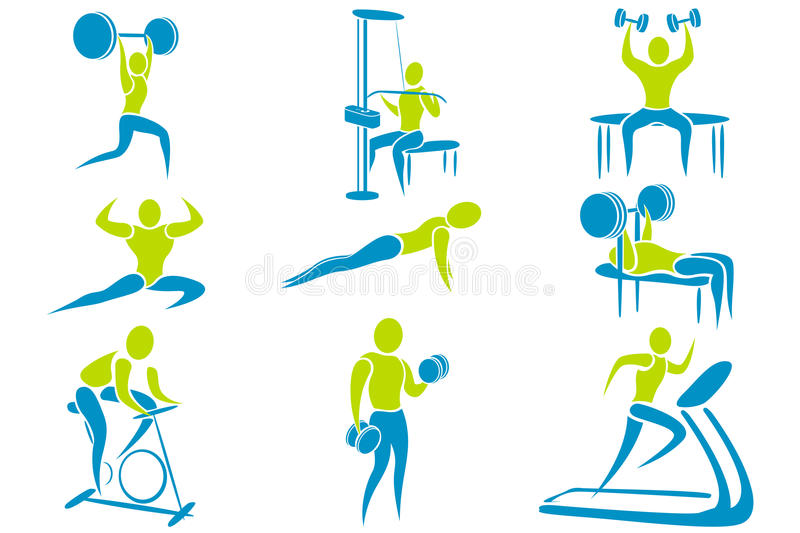 Download Gym Activity stock vector. Illustration of silhouette - 19198189