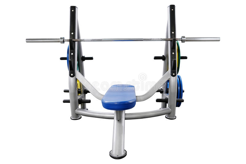 Gym apparatus. The image of weights in a fitness hall stock photo