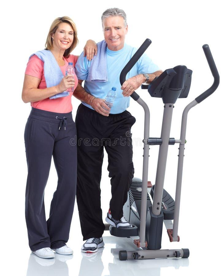 Gym, aptidão, estilo de vida saudável fotografia de stock royalty free