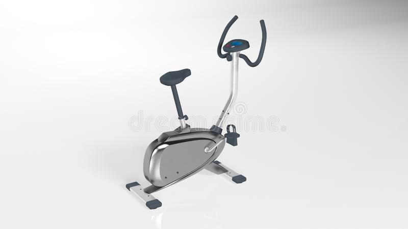 Gym bike, stepper, workout step machine, sports equipment isolated on white background, 3D render. Ing vector illustration
