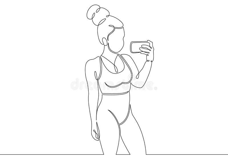 Gym bodybuilder bawi się pojęcie royalty ilustracja