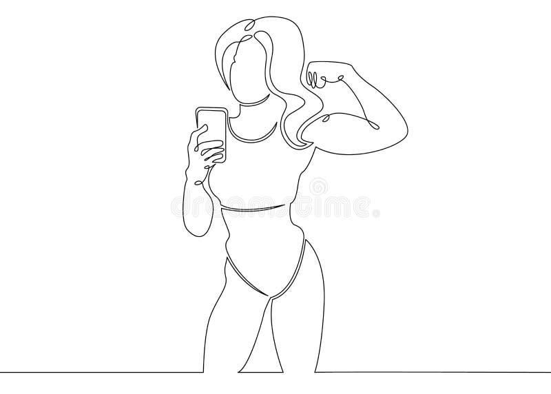 Gym bodybuilder bawi się pojęcie ilustracji