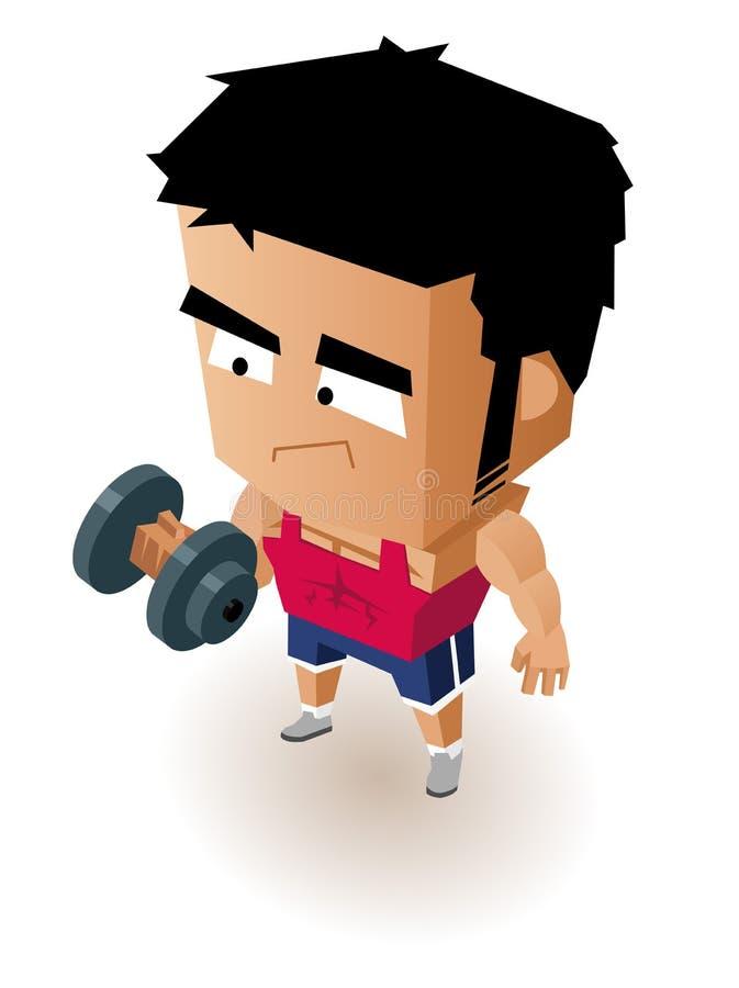 Download Gym Boy stock illustration. Illustration of healthy, male - 31586416