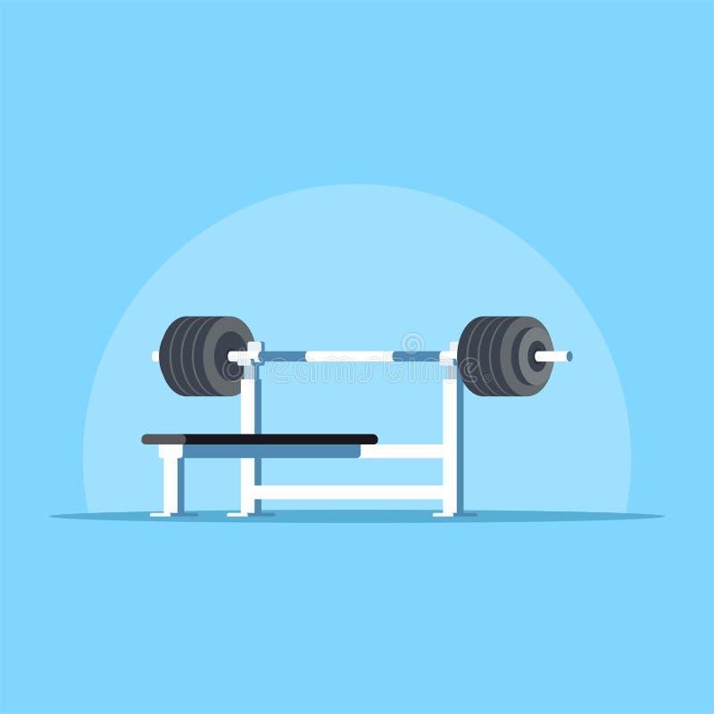 Bench press rack stock illustration