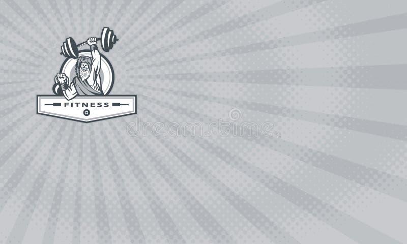 Gym de Berserker e cartão da aptidão ilustração do vetor
