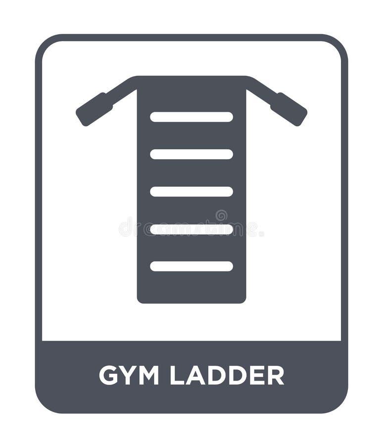 gym drabinowa ikona w modnym projekta stylu gym drabinowa ikona odizolowywająca na białym tle gym drabinowa wektorowa ikona prost ilustracja wektor