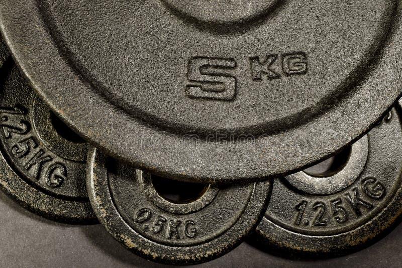 Gym dumbbells obrazy stock