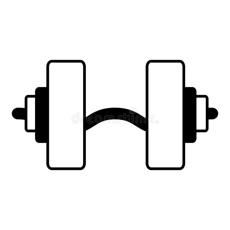 Gym duro do equipamento do peso ilustração do vetor