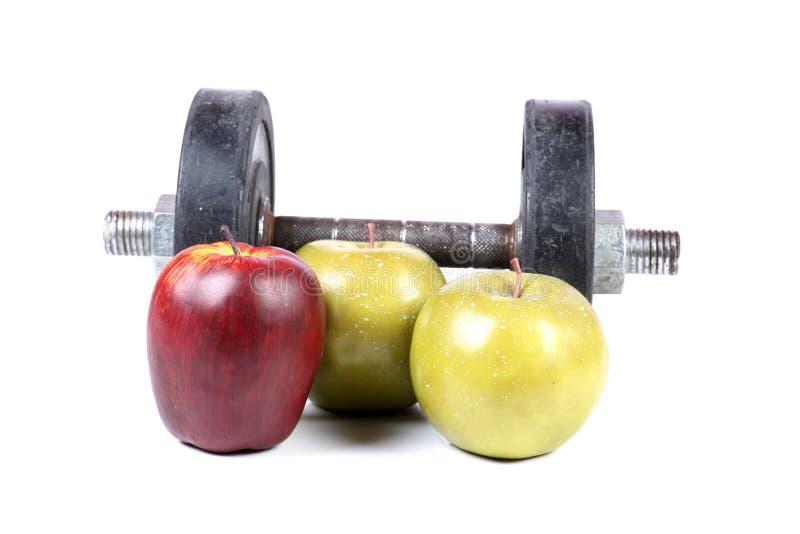 Gym e frutos imagem de stock