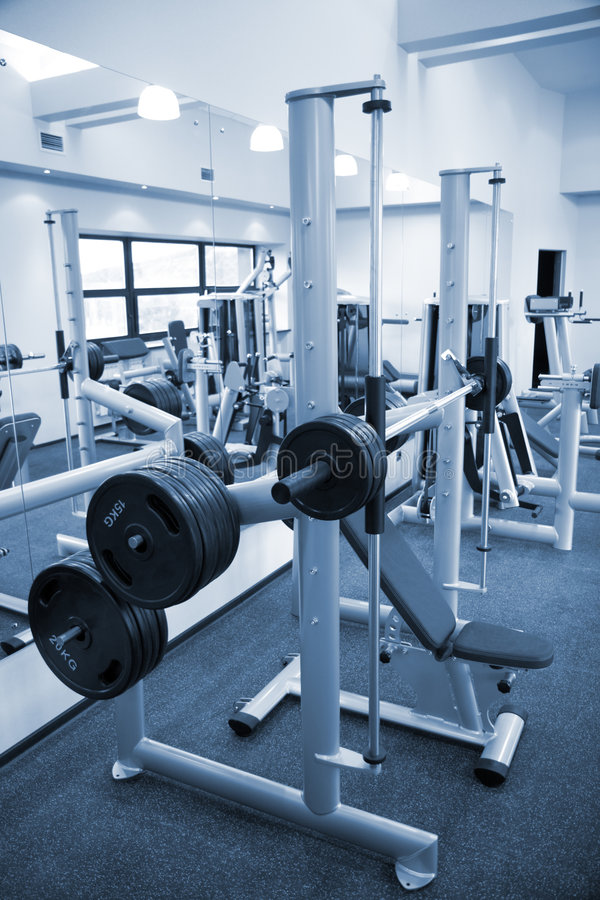 Gym equipment room royalty free stock photo image