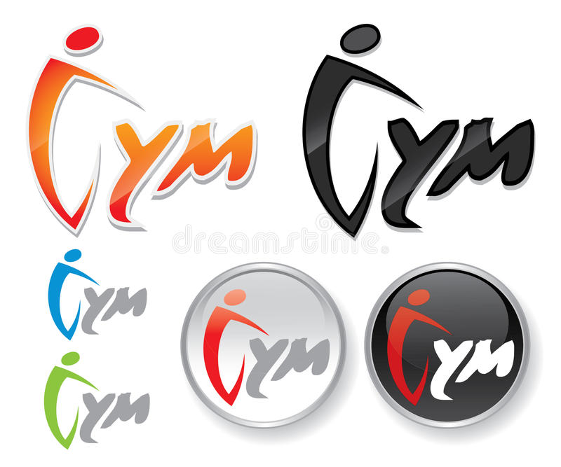 Gym etykietka royalty ilustracja