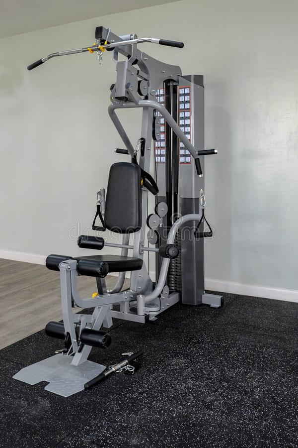 Gym Exercise machine in the gray room royalty free stock photo
