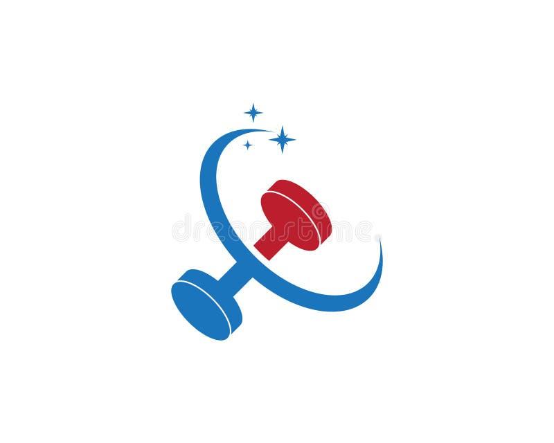 Gym,fitness icon logo  illustration. Man model muscular training male winner builder strong sportsman chest boy power bodybuilding symbol arm element muscle stock illustration