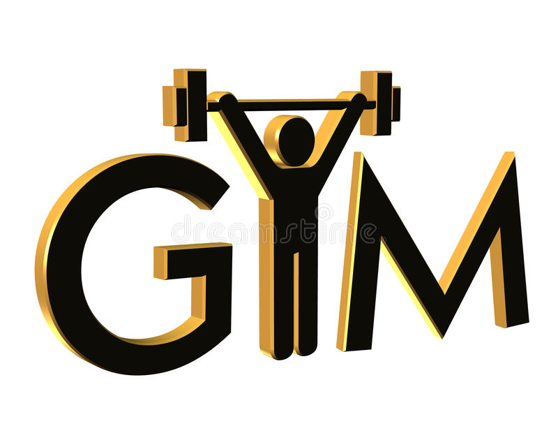 Download Gym Fitness Logo 3D Isolated Stock Illustration - Image: 10020069