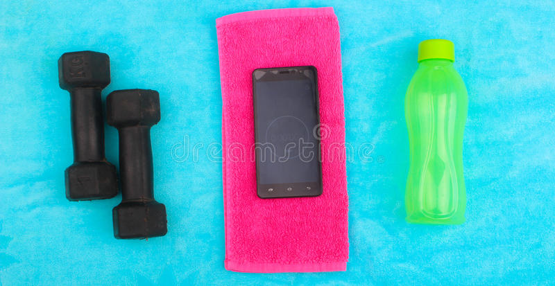 Gym Gear, gym clothes and sports wear kit royalty free stock photography