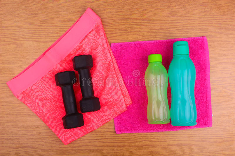 Gym Gear, gym clothes and sports wear kit royalty free stock image
